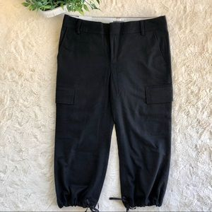 Banana Republic black wool martin crop pants 12